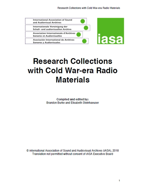 Research Collections with Cold War-era Radio Materials